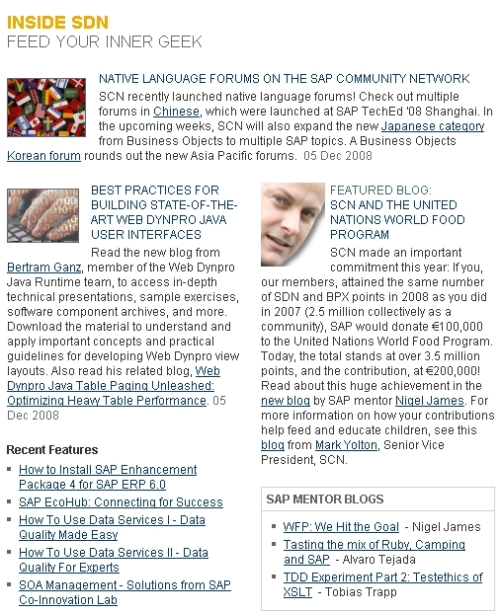 SDN Frontpage
